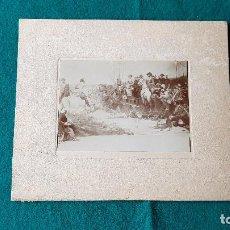 Fotografía antigua: FOTO DE CUADRO PINTURA ALBUMINA - BATALLA. Lote 185712030