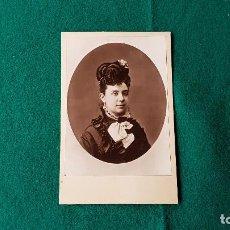 Fotografía antigua: ANTIGUA FOTO RETRATO SEÑORA. Lote 185712977