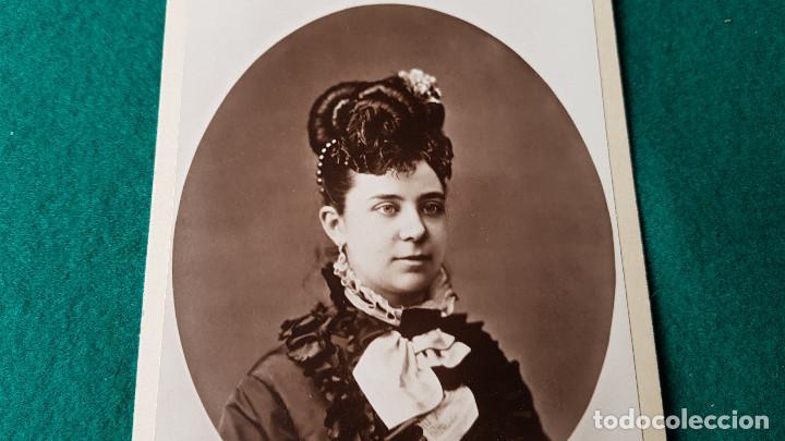 Fotografía antigua: ANTIGUA FOTO RETRATO SEÑORA - Foto 2 - 185712977