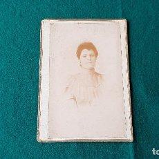 Fotografía antigua: ANTIGUA FOTO RETRATO SEÑORA. Lote 185713102