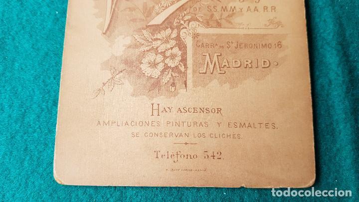 Fotografía antigua: ANTIGUA FOTO RETRATO - FOTOGRAFO VALENTIN - MADRID - Foto 5 - 185713543