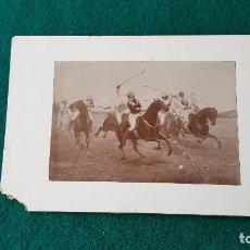 Fotografía antigua: FOTO DE CUADRO PINTURA - JUGADORES DE POLO. Lote 185713960