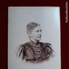 Fotografía antigua: FOTO CABINET. RETRATO DAMA.1896.. Lote 185784666