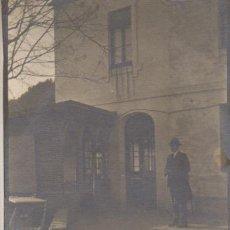 Fotografía antigua: FOTOGRAFIA FOTO ARTISTICA MODERNISTA SEÑOR DICEMBRE 1919. Lote 185895740
