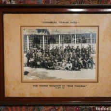 Photographie ancienne: ANTIGUA FOTOGRAFÍA FESTA INAUGURACIÓ ESTADI VENDRELLENC, 1923- (COMARRUGA TERRASSE HOTEL), 30X24. Lote 186245698