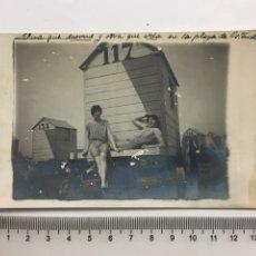 Fotografía antigua: FOTO. EN LA PLAYA DE OSTENDE. FOTÓGRAFO?. H. 1915?.. Lote 187185800