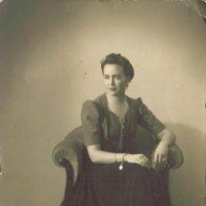 Fotografía antigua: FOTO DE ESTUDIO DE UNA JOVEN. Lote 187616531