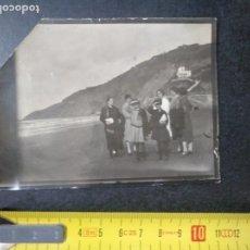 Fotografía antigua: FOTO ANTIGUA VISTA COSTA VASCA PLAYA GUIPÚZCOA GIPUZKOA. Lote 188718743