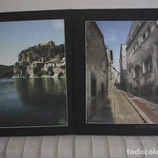 Fotografía antigua: LOTE DE DOS FOTOGRAFIAS A COLOR DE MIRAVET, TARRAGONA. 50 X 40 CM.. Lote 189697467