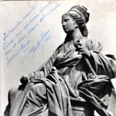 Fotografía antigua: FOTOGRAFIA DE MARTIN SANTOS YUBERO DEDICADA,FOTOGRAFO GUERRA CIVIL ESPAÑOLA,DIOSA CIBELES, MADRID. Lote 189886641