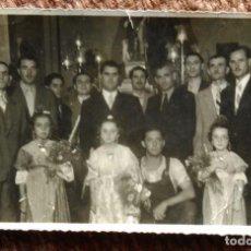 Fotografía antigua: FESTEROS DE SAN ROQUE - 1947 - FOTO A.B. - VALENCIA. Lote 189951990