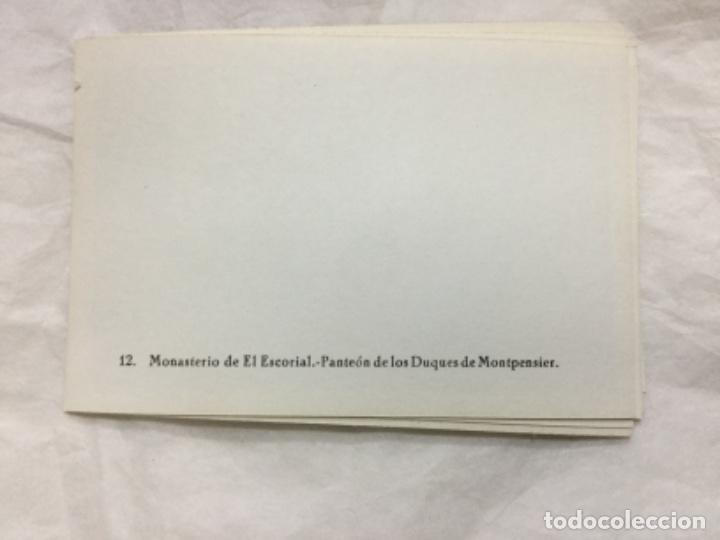 Fotografía antigua: MONASTERIO DE EL ESCORIAL - 12 FOTOGRAFIAS ARTISTICAS - HELIOTIPIA A. ESPAÑOLA - MADRID - Foto 3 - 190112668