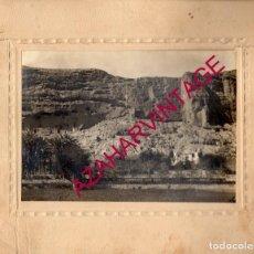 Fotografía antigua: CUEVAS DE ALMANZORA, ALMERIA, VISTA GENERAL, SIGLO XIX, ESPECTACULAR,255X205MM. Lote 190515547