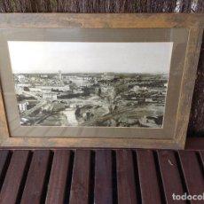 Fotografía antigua: FOTOGRAFIA ENMARCADA MANRESA - L'ABANS PANORAMICA DE MANRESA ENTRE 1896-1904 -AJUNTAMENT DE MANRESA. Lote 190542923