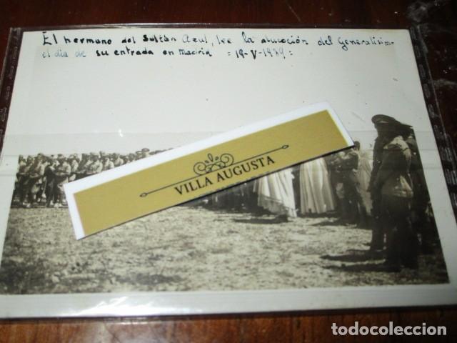 LEGION DE MELILLA 19 V 1939 SULTAN AZUL LEE ALOCUCION DE GENERALISIMO EN SU ENTRADA EN MADRID IFNI (Fotografía - Artística)