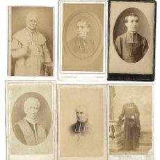Fotografía antigua: LOTE DE 6 ESTRAORDINARIAS FOTOGRAFIAS DE SACERDOTES - DE PRINCIPIO DEL SIGLO XX . Lote 190993375