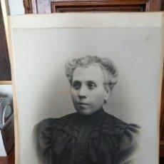 Fotografía antigua: FOTOGRAFIA DE DAMA. SIGLO XIX. ASTURIAS. OVIEDO. FOTOGRAFO J. DEL FRESNO E HIJO. Lote 191322375