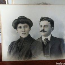 Fotografía antigua: FOTOGRAFIA DE MATRIMONIO SIGLO XIX. ASTURIAS. OVIEDO- ¿J. DEL FRESNO E HIJO?.. Lote 191322396