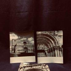 Fotografía antigua: TRES FOTOGRAFIAS SORIA IGLESIA SANTO DOMINGO FOTARRANZ 1967 INFORMACION TURISMO ARCHIVO 25,5X20,5CM. Lote 191518748