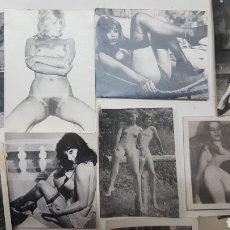 Fotografía antigua: EROTICA PORNOGRAFIA: LOTE 17 FOTOGRAFIAS ANTIGUAS DESNUDOS FEMENINOS DE UNOS 10X8 CMS. Lote 191913457