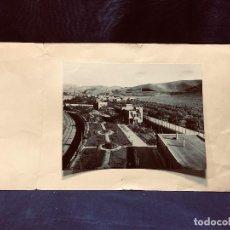 Fotografía antigua: FOTOGRAFIA MARIN CHIVITE ZARAGOZA JARDIN EDIFICIOS VIA DE TREN ARAGON 25X32CMS. Lote 191959785