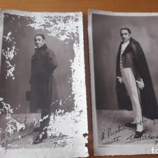 Fotografía antigua: 2 FOTOS AUTOGRAFIADAS Y DEDICADAS DEL TENOR MARCOS REDONDO. Lote 192045095