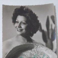 Fotografía antigua: FOTO DE ARTISTA CON DEDICATORIA. Lote 192453766