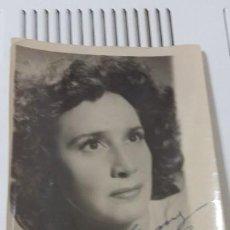 Fotografía antigua: FOTO DE CELIA GAMEZ CON DEDICATORIA. Lote 192566878