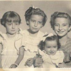 Fotografía antigua: == F1114 - FOTOGRAFÍA - CUATRO BONITAS NIÑAS. Lote 193073790