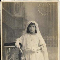 Photographie ancienne: *** FA371 - FOTOGRAFIA - JOVENCITA DE PRIMERA COMUNION - FOTO SAUL - ALCIRA. Lote 193646101
