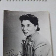 Fotografía antigua: FOTO DE ARTISTA CON DEDICATORIA. Lote 193665257