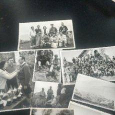 Fotografía antigua: LOTE 8 FOTOGRAFÍAS. MONTAÑEROS ALPINISMO VASCO. MENDIGOIZALE. Lote 193886158