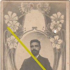 Fotografía antigua: FOTOGRAFIA FOTO MONTAJE CABALLERO CARTAGENA 1903 - ESCRITA DIRIGIDA A VALENCIA - -R-8. Lote 194222762