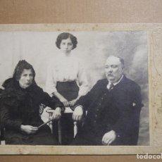 Fotografía antigua: FAMILIA. FOTOGRAFI DANGLA BARCELONA. . Lote 194223310