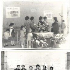 Fotografía antigua: DOS FOTOGRAFÍAS CUESTACIÓN LUCHA CONTRA EL CANCER 1966-70 - FOTÓGRAFO SERRANO - BENETUSER (VALENCIA). Lote 194233983