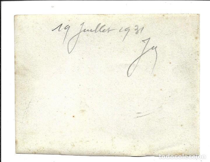 Fotografía antigua: LOTE 5 FOTOGRAFIAS ANTIGUAS - DOPS FMILIAS EN EL PARQUE- EL 19 - 7- 1.931 - Foto 2 - 194235860