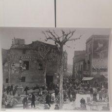 Fotografía antigua: FOTOGRAFIA COPIA DE PLAÇA DE L' ANGEL SABADELL 40 X 30 CM. Lote 194242840