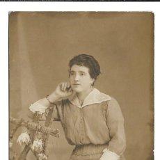 Fotografía antigua: FOTOGRAFIA ANTIGUA - UNA DAMA - FOTO - JULIO MONTES - DE LA PEL - BRIVIESCA - 16 - 6 - 1.917 . Lote 194264342