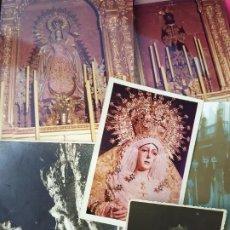 Fotografía antigua: SEVILLA,SEMANA SANTA,AÑOS 50 DEDICATORIAS DE LA HERMANDAD. Lote 194264778