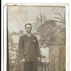 Fotografía antigua: FOTOGRAFIA ANTIGUA - UN PADRE E HIJO - FOTO - . Lote 194274558