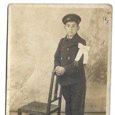 Fotografía antigua: FOTOGRAFIA ANTIGUA - UN NIÑO DE COMUNION - FOTO - DEDICADA . Lote 194274947