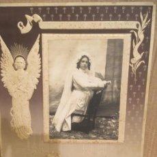 Fotografía antigua: CIUADAD REAL. ALCAZAR DE SAN JUAN, FOTOGRAFÍA NIÑA DE COMUNIÓN BENJAMIN ESPERON,28,5X21,5 CMS. Lote 194275188