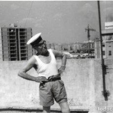 Fotografía antigua: == GG123 - FOTOGRAFIA - SEÑOR CON SOMBRERO DE MARINERO. Lote 194296091