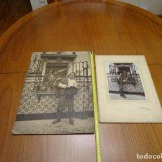 Fotografía antigua: 45 CMTS. DOS FOTOGRAFIAS, ARA. VALENCIA, AÑOS 1920. Lote 194321471