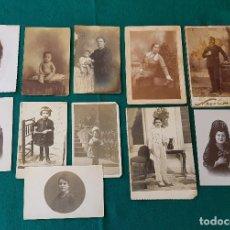 Fotografía antigua: LOTE DE 11 FOTOS ANTIGUAS. Lote 194353565