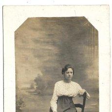 Fotografía antigua: FOTOGRAFIA ANTIGUA - UNA DAMA SENTADA - FOTO DE PRINCIPIOS DEL SIGLO XX. Lote 194372121