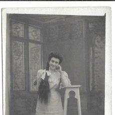 Fotografía antigua: FOTOGRAFIA ANTIGUA - UNA DAMA SENTADA - FOTO DE PRINCIPIOS DEL SIGLO XX - SIN DIVIDIR. Lote 194372267