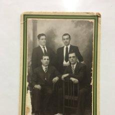Fotografía antigua: FOTO. HERMANOS Y PRIMOS. FOTO LAPORTA (PADRE). GANDÍA Y PEGO.. Lote 194408105