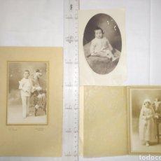 Fotografía antigua: 3 FOTOGRAFÍAS ARTÍSTICAS V. LUCAS ALMERÍA. Lote 194493028