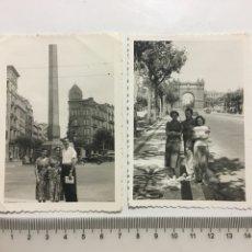 Fotografía antigua: FOTOS. PLAZA LA VOCTORIA. ARCO DE TRIUNFO. BARCELONA. FOTÓGRAFO?.. Lote 194493076